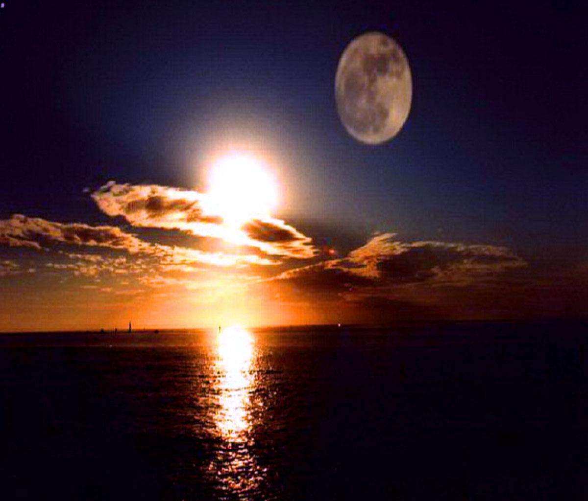 تفسير رؤية العزباء للشمس والقمر عندما يلتقيان
