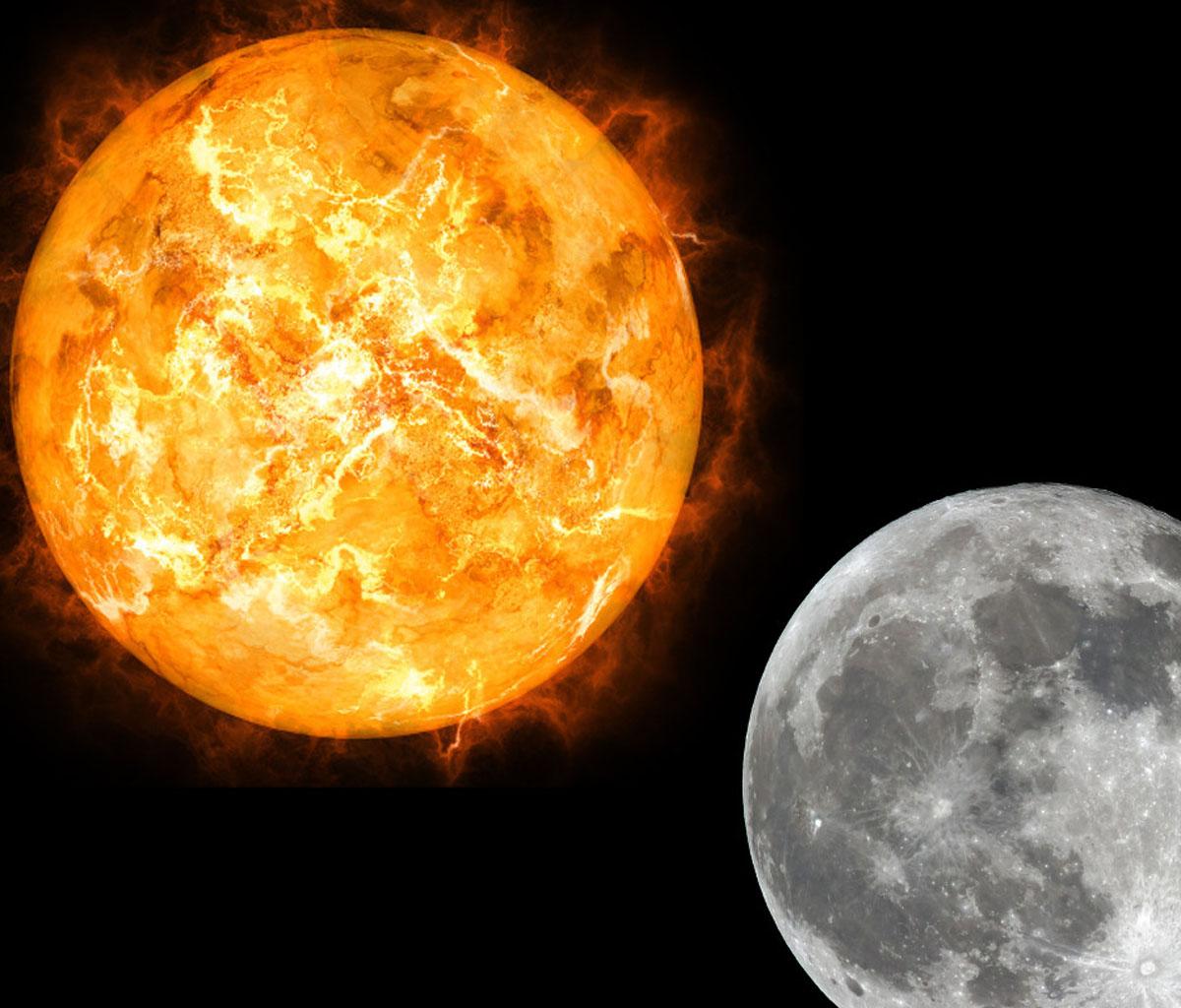 تفسير رؤية التقاء الشمس والقمر في المنام للمرأة الحامل