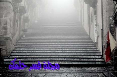 حلم صعود ونزول الدرج والسلم للمرأة المتزوجة والحامل في المنام لابن سيرين
