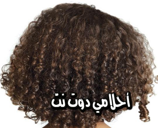 الشعر المجعد في المنام