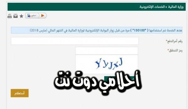 استعلام عن مستحقات مالية برقم الهوية في السعودية