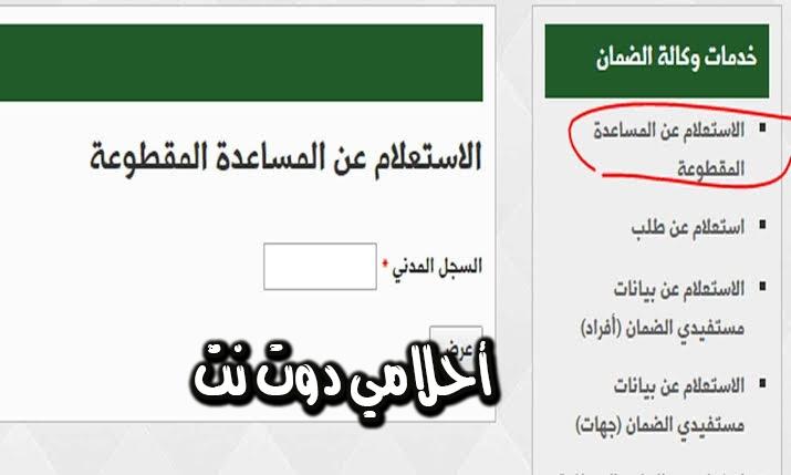 استعلم عن طلبك في الضمان الاجتماعي بالمملكة العربية السعودية